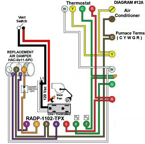 Color Wiring Diagram #12A
