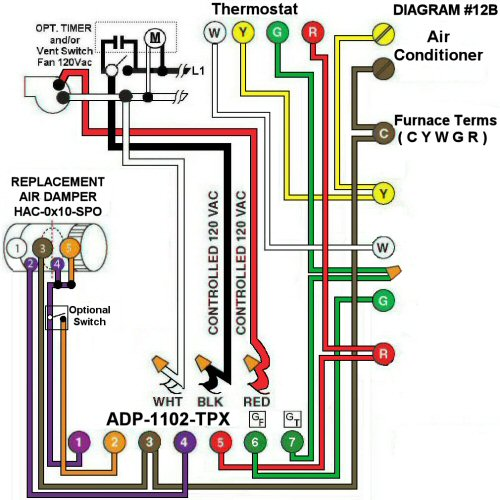 Color Wiring Diagram #12B