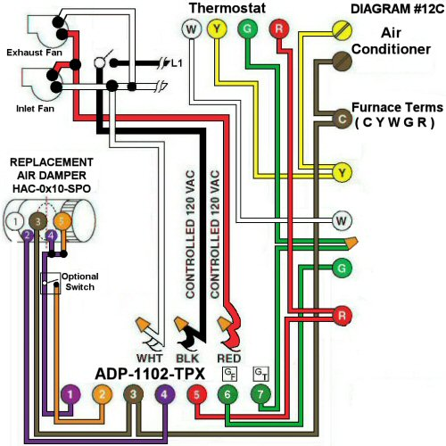 Color Wiring Diagram #12C