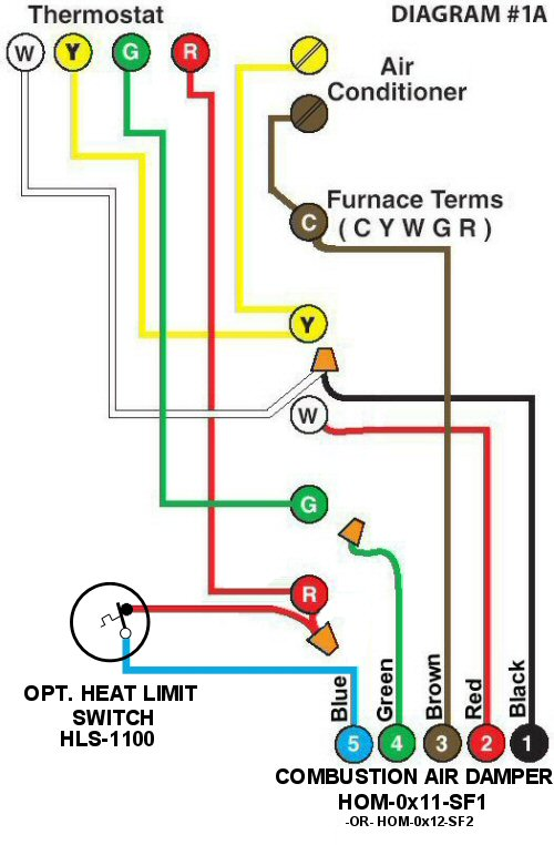 Colored Wiring Diagram #1A
