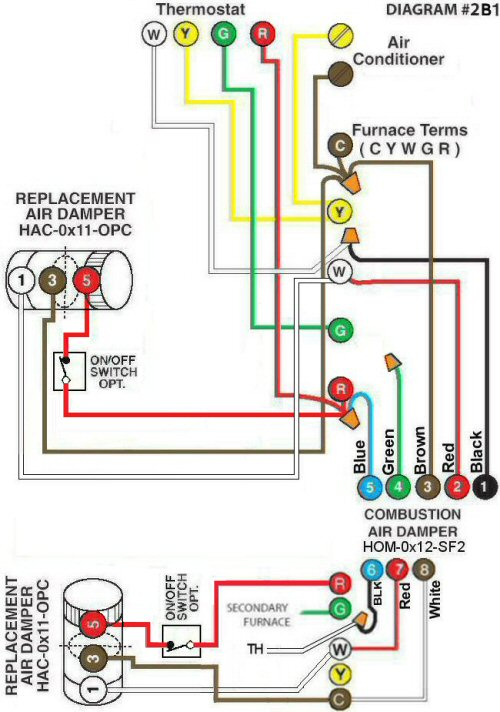 Color Wiring Diagram #2B1