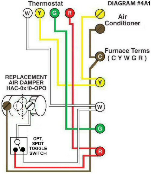 Colored Wiring Diagram #4A1
