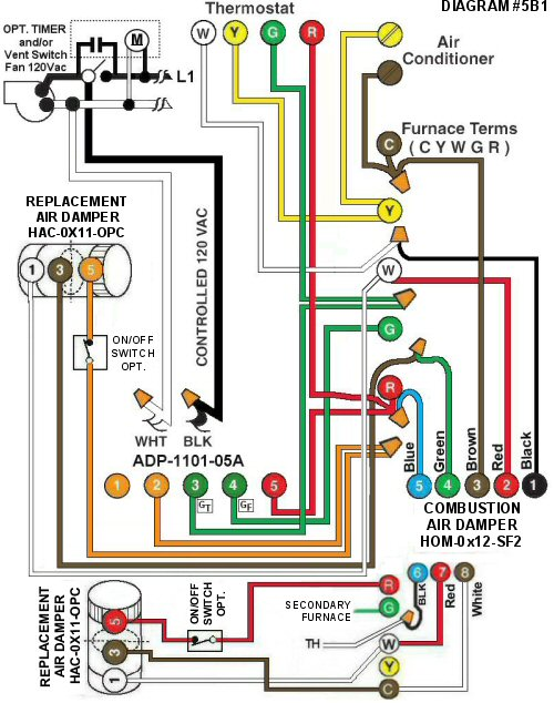 Color Wiring Diagram #5B1