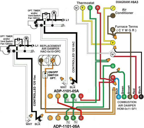 Colored Wiring Diagram #6A3