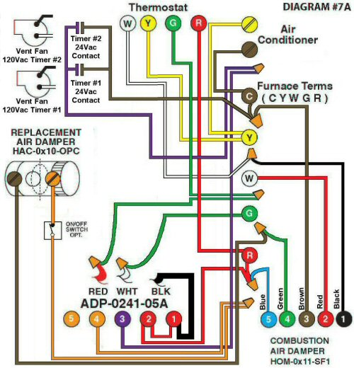 Color Wiring Diagram #7A