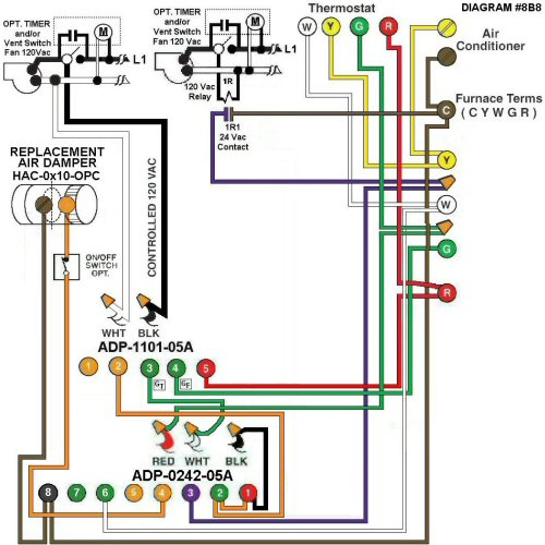 Color Wiring Diagram #8B8