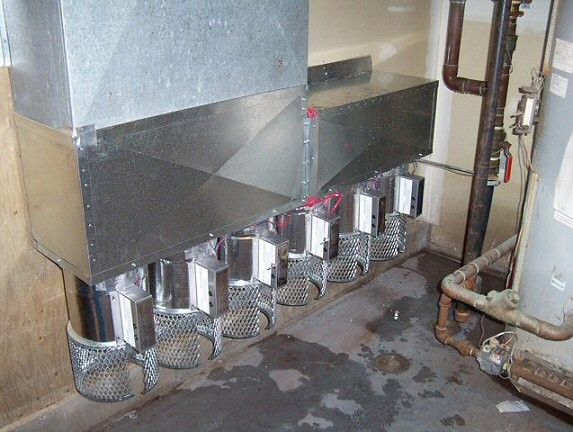 HOM - Combustion Air Damper - Commercial Installation